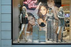 Mynx宝贝在兆Bangna,曼谷,泰国, 2017年8月30日购物 图库摄影