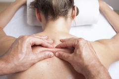 Myofacial therapy Royalty Free Stock Image