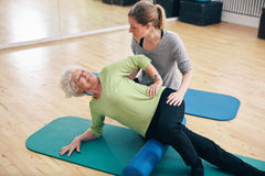 Myofascial release technique with a foam roller Stock Photography
