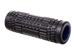 Myofascial with spines, rubber roller for self-massage. On white background. Stock Photo