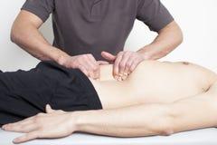Myofascial terapi Fotografering för Bildbyråer