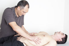 Myofascial therapy Royalty Free Stock Photos