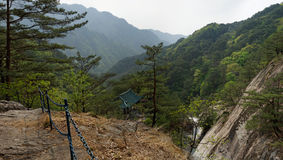 Myohyang mountains Panorama, DPRK (North Korea) Royalty Free Stock Photos