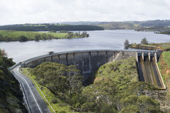 Myponga水库, Myponga,南澳大利亚水坝  免版税图库摄影