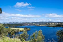 Dam Myponga Reservoir, South Australia Stock Photos