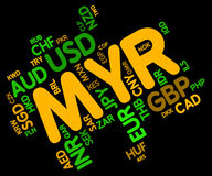 Myr Currency Shows Malaysia Ringgit And Fx Stock Image