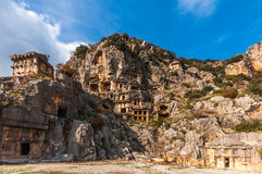 Myra Ancient City, Turkey. Situated between the Mediterranean resorts of bohemian Kas and rustic Finike, Myra was an ancient city from the Lycian period and at Stock Photography