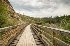 Myra Canyon cycling route Royalty Free Stock Images