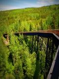 Myra Canyon railroad Royalty Free Stock Images