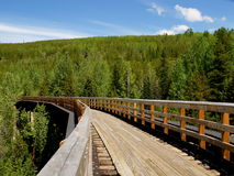 Myra Canyon-spoorweg Stock Fotografie