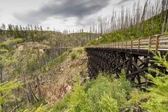 Myra Canyon Trestles Lizenzfreies Stockfoto