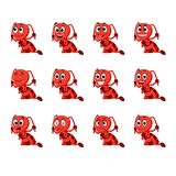Myra med olika ansiktsuttryck Arkivbild