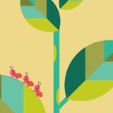 Myra på bladvektorillustration Arkivfoto