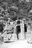 Myra in turkey europe old roman necropolis and indigenous tomb s Stock Image