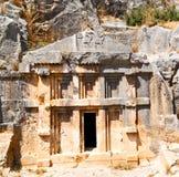 In  myra turkey europe old roman necropolis and indigenous tomb Stock Image