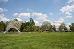 Myriad Botanical garden in Oklahoma. Myriad Botanical gardens in city Oklahoma, USA Stock Photo