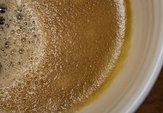 Close-up view of a freshly made cup of hot Americano coffee seen in a ceramic mug. stock images