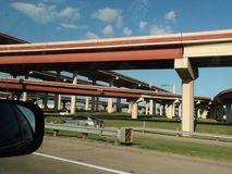 The myriad of highways in Dallas Royalty Free Stock Image
