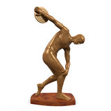 Myron Statue Isolated Stockbild
