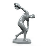 Myron Statue Isolated. On white background. 3D render Royalty Free Stock Images