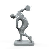 Myron Statue Isolated. On white background. 3D render Stock Photography