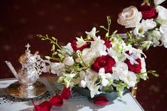 Myrrh and flower Stock Photography