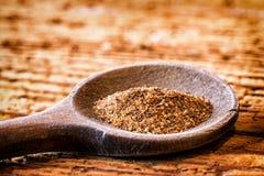 Myrrh. Incense on an old kitchen spoon - myrrh Stock Images