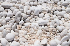 The  Myrthos beach with little white stones Stock Images
