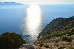 Myrthos beach panoramic view Royalty Free Stock Images