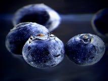 Myrtilles avec des bulles Image libre de droits