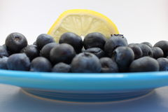 Myrtilles et citron Image stock