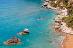 Myrtiotissa en Corfú, Grecia Fotos de archivo libres de regalías
