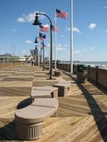 Myrtle Beach board walk. This is the board walk that was built quite recently at Myrtle Beach, South Carolina Stock Image