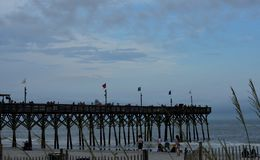 Myrtle Beach Boardwalk Pier du nord Photo libre de droits