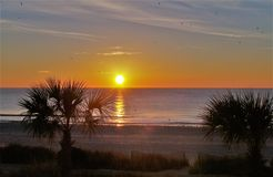 Myrtle Beach Glowing Sunrise Stockfotografie