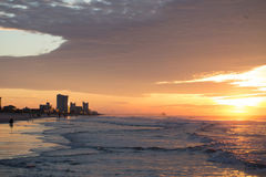 Sunrise at Myrtle Beach. Myrtle Beach, its popular tourists destination in USA stock photos