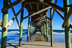 Myrtle Beach Ocean Pier fotografering för bildbyråer