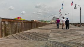 MYRTLE BEACH, SC - APRIL 2018: Panoramic aerial skyline and coastline on a cloudy afternoon. This is a famous tourist destination. In summer stock photos