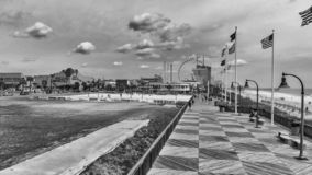 MYRTLE BEACH, SC - APRIL 2018: Panoramic aerial skyline and coastline on a cloudy afternoon. This is a famous tourist destination. In summer royalty free stock photography