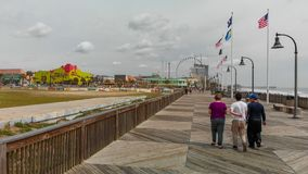 MYRTLE BEACH, SC - APRIL 2018: Panoramic aerial skyline and coastline on a cloudy afternoon. This is a famous tourist destination. In summer royalty free stock image