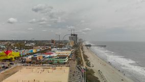 MYRTLE BEACH, SC - APRIL 2018: Panoramic aerial skyline and coastline on a cloudy afternoon. This is a famous tourist destination. In summer stock photography