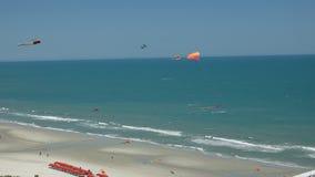 Myrtle Beach SC-drakar i vinden Arkivfoton