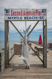 Myrtle Beach Second Avenue Pier. Myrtle Beach, its popular tourists destination in USA stock photos