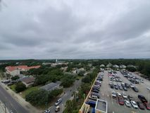 Myrtle beach skyline. Clouds, gray, overcast royalty free stock photography