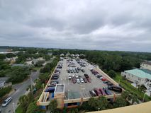 Myrtle beach skyline. Clouds, gray, overcast royalty free stock photo
