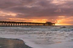 Myrtle Beach-Sonnenaufgang stockfotos