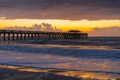 Myrtle Beach-Sonnenaufgang stockfoto
