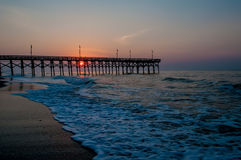 Myrtle beach south carolina. Pier 14 at sunrise Royalty Free Stock Image