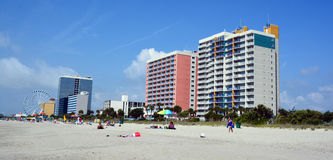 Myrtle Beach. SOUTH CAROLINA JUNE 29 2016:  is a coastal city on the east coast center of a large and continuous stretch of beach known as the Grand Strand in royalty free stock image