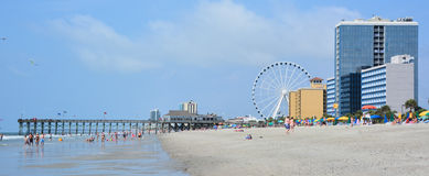 Myrtle Beach. SOUTH CAROLINA JUNE 29 2016:  is a coastal city on the east coast center of a large and continuous stretch of beach known as the Grand Strand in stock photos